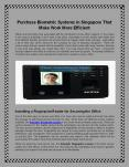 Purchase Biometric Systems in Singapore That Make Work More Efficient. PowerPoint PPT Presentation