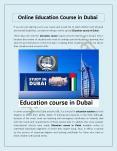 Online Education Course in Dubai PowerPoint PPT Presentation