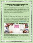 Go with Fairy Light Decoration to Make Your Wedding Venue Extraordinary PowerPoint PPT Presentation