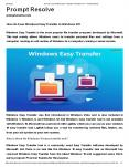 How do I use Windows Easy Transfer in Windows 10? PowerPoint PPT Presentation