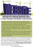 SEO Tips For Making Websites More Visitor Friendly For Better Conversions PowerPoint PPT Presentation