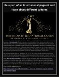 Be a part of an International pageant and learn about different cultures PowerPoint PPT Presentation