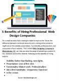 5 Benefits of Hiring Professional Web Design Companies PowerPoint PPT Presentation