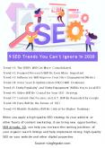 9 SEO Trends You Can't Ignore in 2020 PowerPoint PPT Presentation