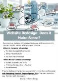 Website Redesign Does it Make Sense PowerPoint PPT Presentation