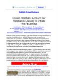 Casino Merchant Account For Merchants Looking To Inflate Their Business PowerPoint PPT Presentation