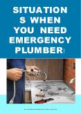 Situations When You Need Emergency Plumber PowerPoint PPT Presentation