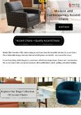 Modern And Contemporary Accent Chairs PowerPoint PPT Presentation