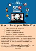 How to Boost your SEO in 2020 PowerPoint PPT Presentation