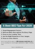 5 Best SEO Tips for 2020 PowerPoint PPT Presentation