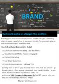 Business Branding on a Budget: Tips and Hints PowerPoint PPT Presentation