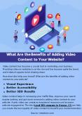 What Are the Benefits of Adding Video Content to Your Website? PowerPoint PPT Presentation