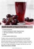 Health Benefits of Organic Red Wine PowerPoint PPT Presentation