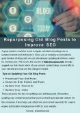 Repurposing Old Blog Posts to Improve SEO PowerPoint PPT Presentation