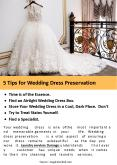 5 Tips for Wedding dress preservation PowerPoint PPT Presentation