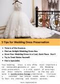 5 Tips for Wedding dress preservation PowerPoint PPT Presentation