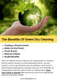 The Benefits Of Green Dry Cleaning PowerPoint PPT Presentation