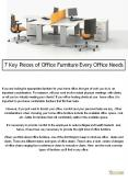 7 Key Pieces of Office Furniture Every Office Needs PowerPoint PPT Presentation