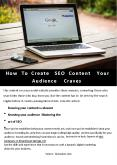 How To Create SEO Content Your Audience Craves PowerPoint PPT Presentation