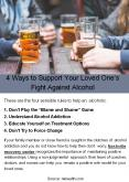 4 Ways to Support Your Loved One's Fight Against Alcohol PowerPoint PPT Presentation