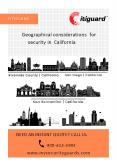 Geographical considerations for security in California PowerPoint PPT Presentation