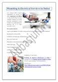 Plumbing & Electrical Services in Dubai PowerPoint PPT Presentation