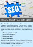 How to Boost your SEO in 2020? PowerPoint PPT Presentation
