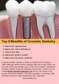 Top 5 Benefits of Cosmetic Dentistry PowerPoint PPT Presentation