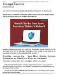 """How to Fix """"You Must Enable System Protection on This Drive"""" in Windows 10 PowerPoint PPT Presentation"""