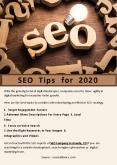 SEO Tips for 2020 PowerPoint PPT Presentation
