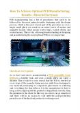 How To Achieve Optimal PCB Manufacturing Results? - Miracle Electronics PowerPoint PPT Presentation
