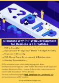 5 Reasons Why PHP Web Development for Business is a Great Idea PowerPoint PPT Presentation