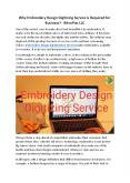 Why Embroidery Design Digitizing Service is Required for Business? - BitsnPixs LLC PowerPoint PPT Presentation