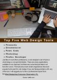 Top Five Web Design Tools PowerPoint PPT Presentation