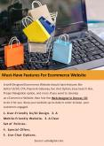 Must-Have Features For Ecommerce Website PowerPoint PPT Presentation