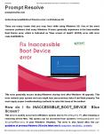 Solve Inaccessible Boot Device error on Windows 10 PowerPoint PPT Presentation