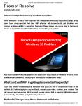 Solve WiFi keeps disconnecting Windows 10 Problem PowerPoint PPT Presentation