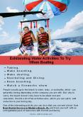 Exhilarating Water Activities To Try When Boating PowerPoint PPT Presentation