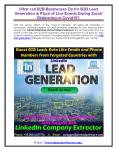 What can B2B businesses do for B2B lead generation in place of live events during social distancing or covid19 PowerPoint PPT Presentation
