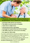 7 Reasons Consumers Choose Medicare Supplement Over Medicare Advantage PowerPoint PPT Presentation