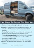 Four Steps To Choose The Right Van PowerPoint PPT Presentation
