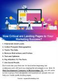 How Critical are Landing Pages to Your Marketing Success? PowerPoint PPT Presentation