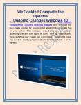 We Couldn't Complete the Updates Undoing Changes Windows 10 PowerPoint PPT Presentation