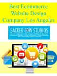 Best Ecommerce Website Design Company Los Angeles PowerPoint PPT Presentation