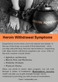 Heroin Withdrawal Symptoms PowerPoint PPT Presentation