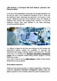 LIMS Software is Developed With Both Medical Laboratory And Patients In Mind! PowerPoint PPT Presentation