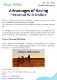 Advantages of Having Personal Will Online PowerPoint PPT Presentation