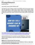 How do I fix a memory leak in Windows 10? PowerPoint PPT Presentation