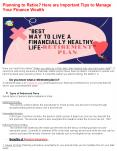 Planning to Retire? Here are Important Tips to Manage Your Finance Wealth PowerPoint PPT Presentation