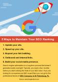 5 Ways to Maintain Your SEO Ranking PowerPoint PPT Presentation
